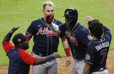 Soler smashes home run off first swing of World Series as Braves take Game 1