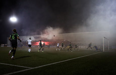 Dundalk threaten lifetime bans for fans with flares and pyrotechnics at matches