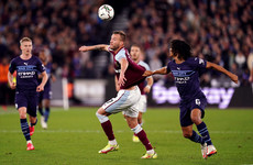 West Ham end Manchester City's four-year run reign as League Cup winners after penalties