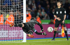 Leicester through to last eight after beating Brighton on penalties