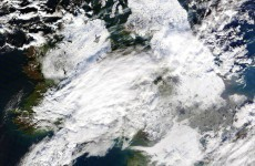 Dramatic image shows snow-covered Ireland