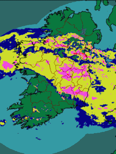 Pics: Here's how the rain gradually crept across Ireland today