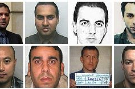 Photos of some of the tax fugitives identified by the HMRC
