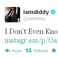 Tweet Sweeper: P Diddy is lost for words
