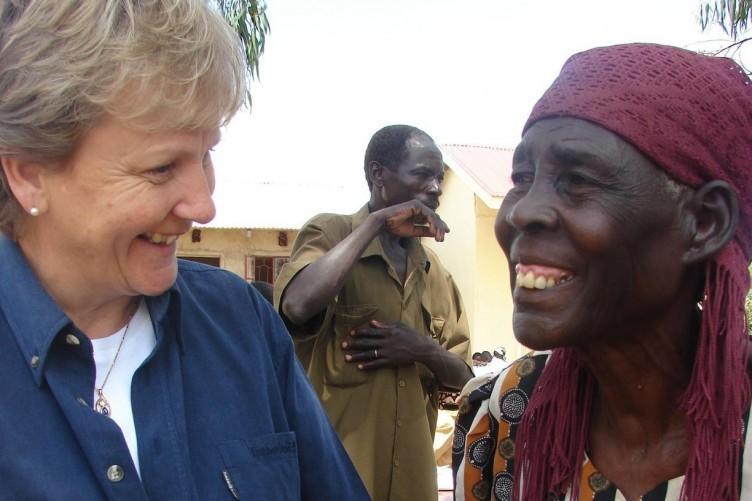 Anne O'Mahony, left, at work in Kenya.