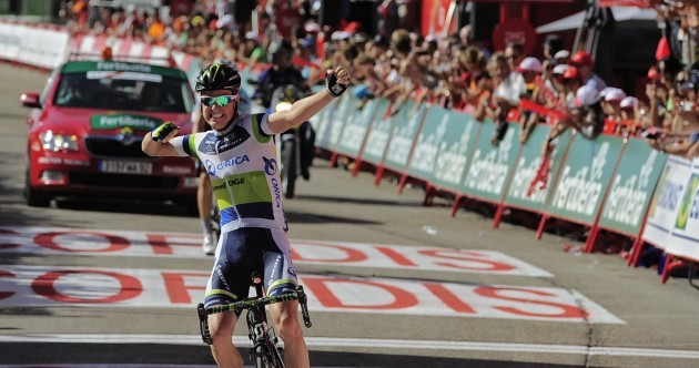 Vuelta á Espana: Clarke bolts to stage four victory
