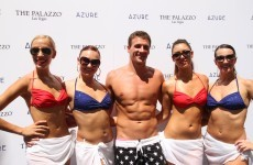 Ryan Lochte and Prince Harry had a swim-off at a Vegas pool party