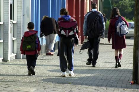 Kids returning to school