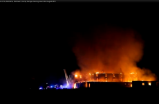 VIDEO: Footage emerges of massive blaze engulfing Donegal hotel