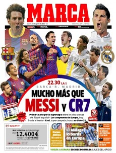 Any football on in Spain tonight? Let's have a look at the front of Marca...