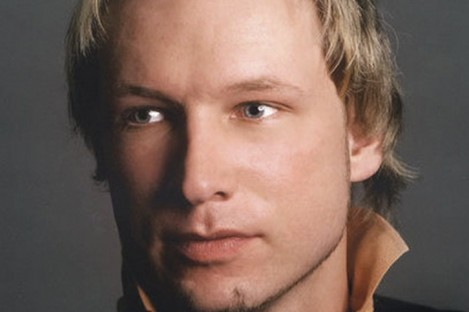 Undated file image obtained from the Twitter page of Anders Behring Breivik, 32