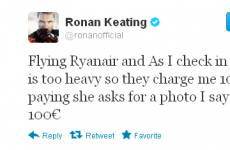 Tweet Sweeper: Ronan Keating drives a hard bargain