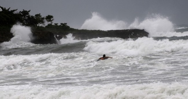 Tropical storm Isaac makes landfall in Haiti