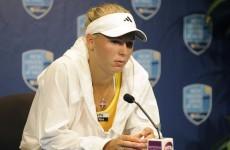 Knee woes sideline Wozniacki