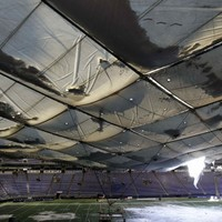 This is what a stadium roof collapse looks like…