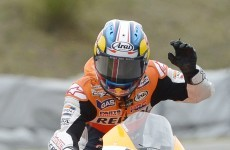 Spain's Dani Pedrosa wins Czech MotoGP following frantic finish