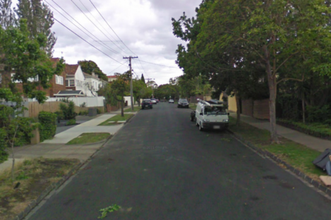 File photo of Lynedoch Avenue in St Kilda East, where the attack occurred in the early hours of Sunday morning.