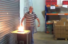 Watch: Exploding birthday cake wasn't what 50-year-old was expecting