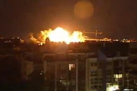 The explosion in Schwabing last night.