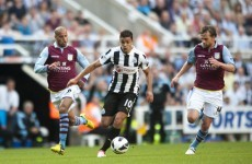 Ben Arfa rescues a point for Toon with stunner against Villa