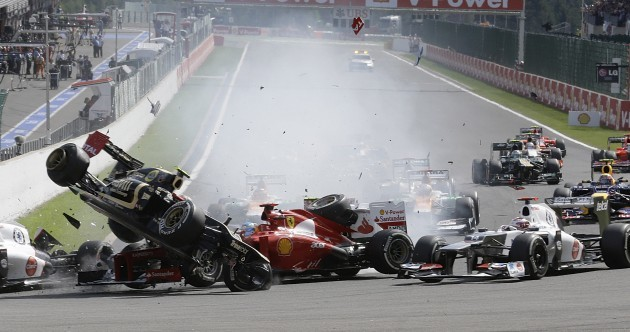 Grosjean banned and fined after Belgian Grand Prix crash