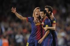 VIDEO: Adriano strike sinks Valencia to keep Barca top