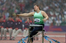 Medal number ten: Orla Barry takes bronze in the discus