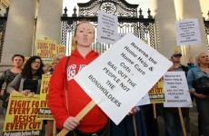 In Pics: This evening's protest against home care and home help cuts