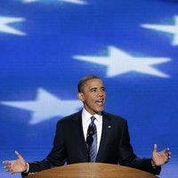Obama asks for second term, says nation will recover