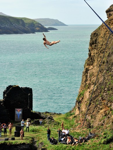 PICTURES: the world's best cliff divers take the plunge in Wales