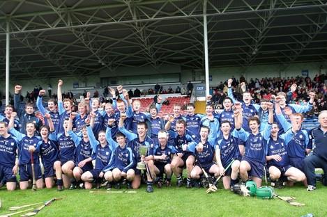 The St Brigid's (Loughrea) team celebrating their 2011 All-Ireland Vocational SAHC triumph.
