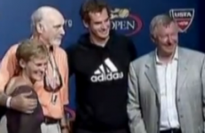 VIDEO: Sean Connery and Alex Ferguson crash Andy Murray's US Open press conference