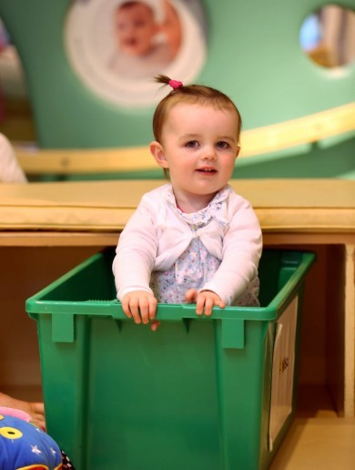 Cute Baby in a Box of the Day