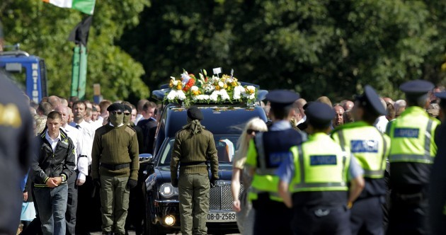 Shatter slams 'reprehensible' events at Alan Ryan funeral