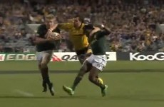 VIDEO: Ashley-Cooper takes two Springboks out at once