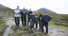 Pics: Fine Gael TDs climb Croagh Patrick... one of them runs back down
