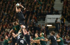 Skipper McCaw inspires All Blacks to win over South Africa in Dunedin