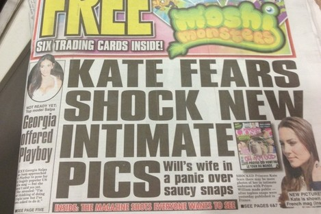 """The front page of the Irish Daily Star reads """"Inside: The magazine shots everyone wants to see"""""""