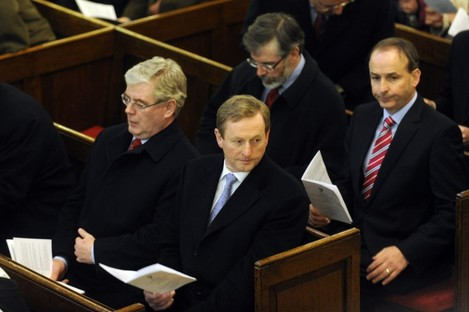 Gerry Adams and Micheál Martin will lead party think-ins today after Enda Kenny and Eamon Gilmore held their own last week.