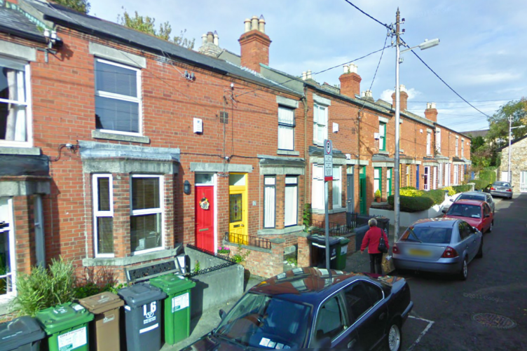 Chelmsford Avenue in Ranelagh, where the decades-old grenade was found in a garden yesterday.