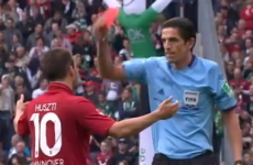 VIDEO: This Hannover player was booked -- twice -- for celebrating his injury-time winner