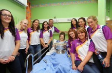 In pictures: Wexford's victorious camogie stars drop in on children's hospital