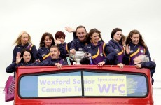 PHOTOS: Wexford's three-in-a-row camogie heroes return home
