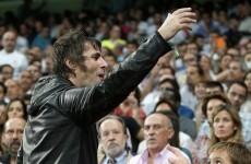 VIDEO: Don't look back in anger... but Liam Gallagher was kicked out of the Bernabeu last night