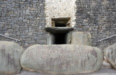 Newgrange winter dawn coincides with rare total lunar eclipse