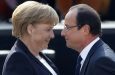 Hollande and Merkel buddy up for anniversary talks as Euro, EADS loom