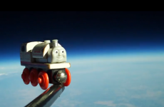 VIDEO: Toddler sends his toy train into space… and back