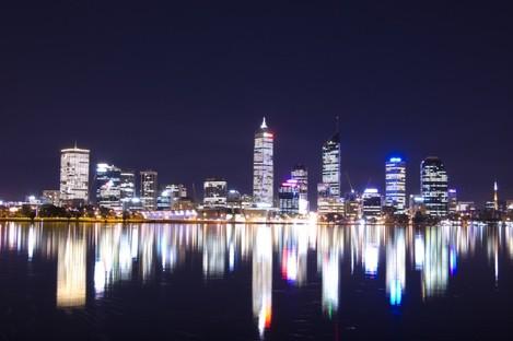 Perth at night.