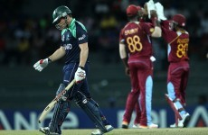 Report: End of the line for Ireland as West Indies enter next round in World T20