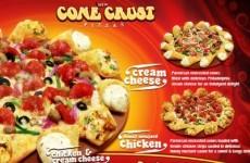 Pizza Hut's latest offering - cream cheese cone crust